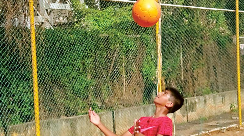 Surya is all pumped up to represent India at the Football for Friendship programme in Moscow. (Photo:DC)