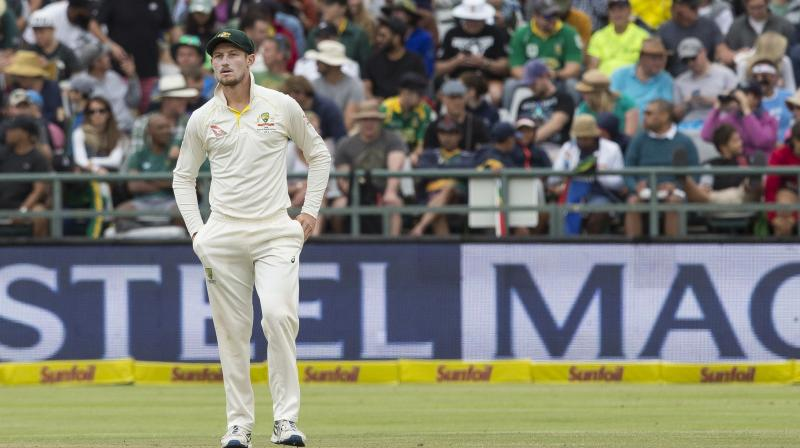 Bancroft appeared to have an object in his hand after fielding the ball at cover. (Photo: AP)