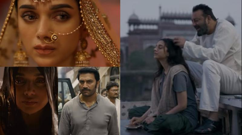 Screen grabs from the trailer of 'Bhoomi'.