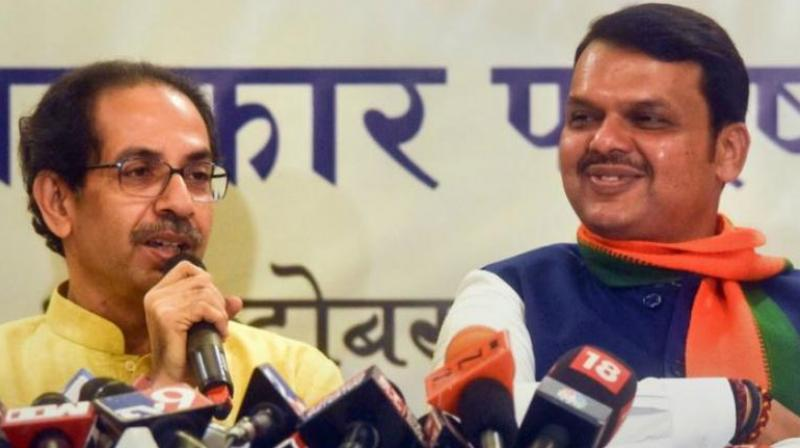 After the state Assembly elections were announced, the BJP and the Shiv Sena are engaged at a standoff over the latter's demand for a 50-50 power share, which means half the ministerial berths and a rotational system for the Chief Minister's post. (Photo: File)