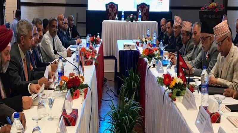 External Affairs Minister S Jaishankar and his Nepali counterpart Pradeep Kumar Gyawali co-chaired the meeting, along with their respective delegations on Wednesday. (Photo: S Jaishankar/ twitter)