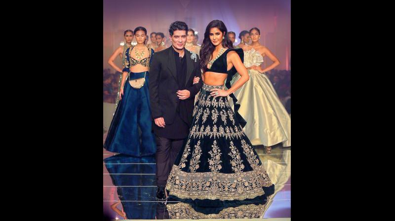 Katrina Kaif walked as the show stopper for designer Manish Malhotra. (Photo: Viral Bhayani)