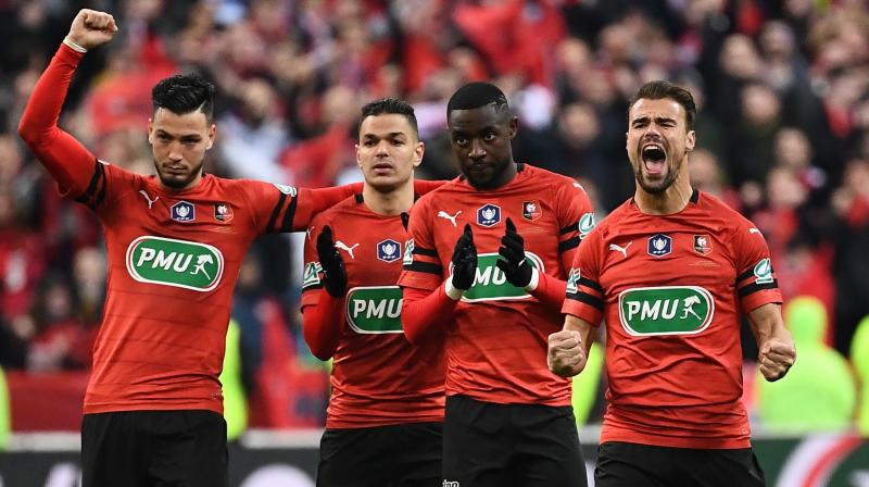 Into extra time they went, and Neymar set up Mbappe for a shot against the post, but proof that Rennes had done more than just ruffle PSG's feathers came when France's golden boy was sent off. (Photo: AFP)