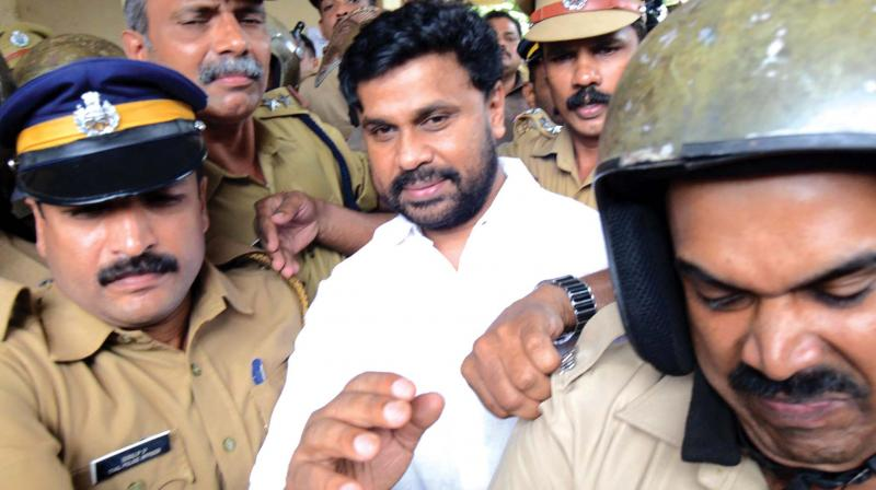 Police produce actor Dileep at Angamaly judicial first class magistrate on Friday. (Photo: DC)