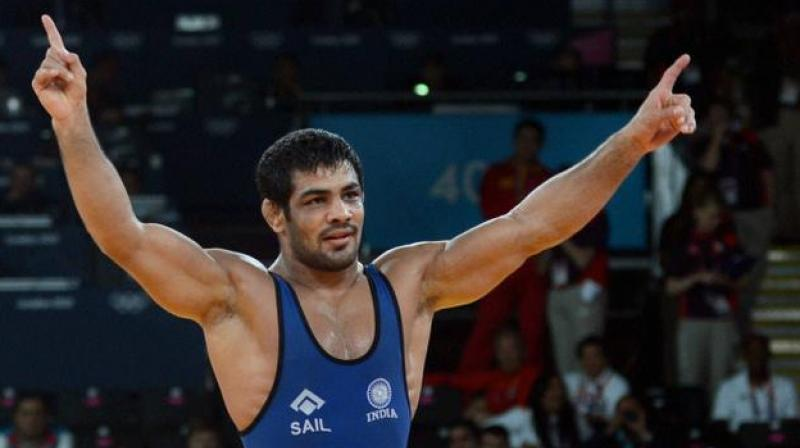 """Sushil won all his bouts on Friday but things took an ugly turn when Rana, after losing to the former in the semifinal clash, claimed that the decorated wrestler's supporters beat him and his elder brother """"for daring to take the ring"""" against him. (Photo: PTI)"""