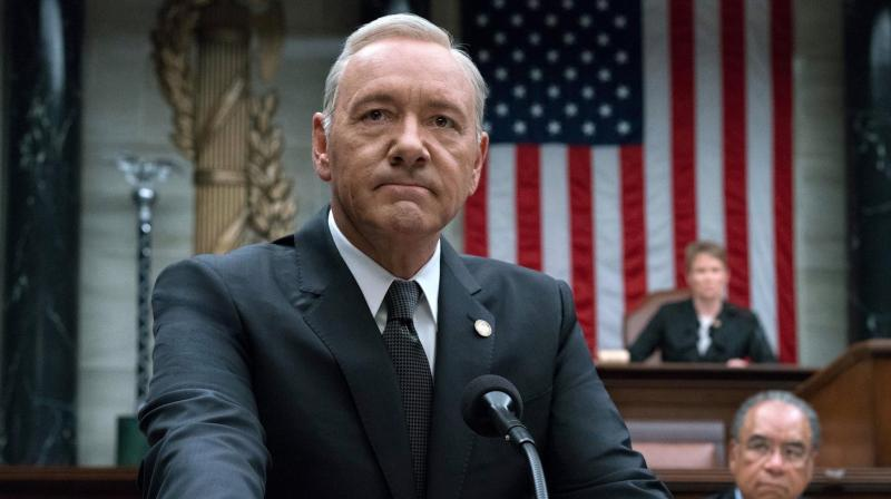 Kevin Spacey in the still from House of Cards.