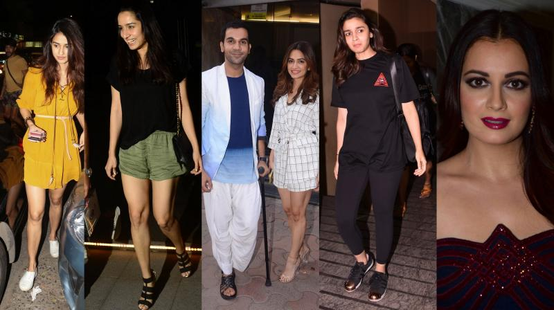 Bollywood's glamorous celebrities like Alia Bhatt Shraddha Kapoor, Jacqueline Fernandez, Dia Mirza, Rajkummar Rao and Kriti Kharbanda, Sonakshi Sinha and others were spotted spreading their magic at different locations in Mumbai. (Pictures: Viral Bhayani)