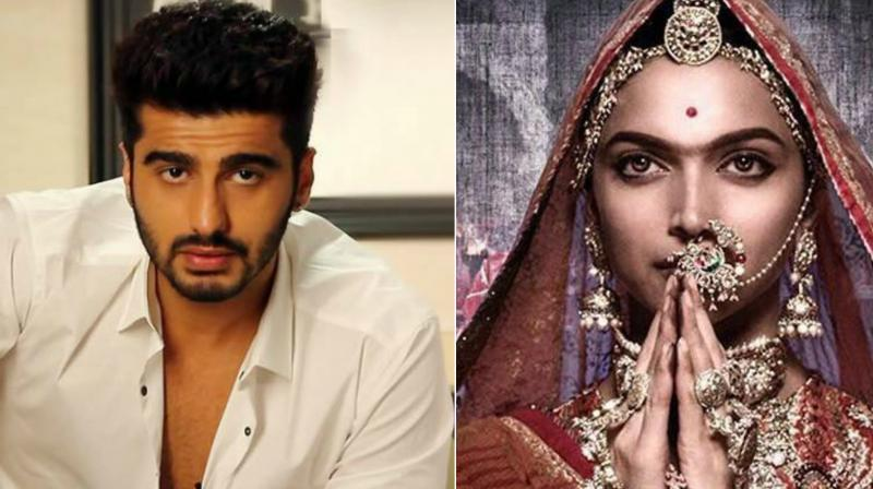 Arjun tweeted in support of Padmavati.