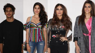 It was a starry affair at the lavish party hosted by Farah Khan for none other than Ed Sheeran. B-town celebs like Bhumi Pednekar, Kriti Sanon, Malaika Arora, Ishaan Khatter, Jhanvi Kapoor, Sushant Singh Rajput, Karan Johar and others were present at the fun party.The 'Shape Of You' singer Ed Sheeran is all set to perform at Jio Gardens in Mumbai tonight. (Photos: Viral Bhayani)