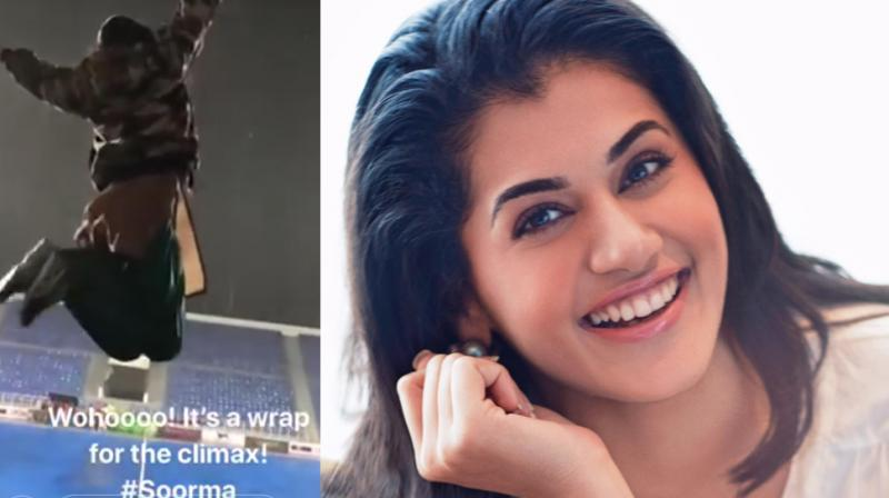 Taapsee Pannu shares her excitement for 'Soorma' climax wrap.