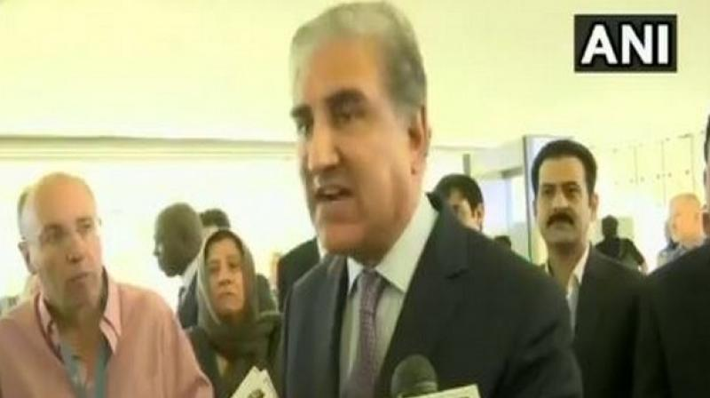 Qureshi's remarks came after his address at the UNHRC session, where he presented a false narrative on Kashmir maintained by his country following the Indian government's historic move to abrogate Article 370. (Photo: ANI)