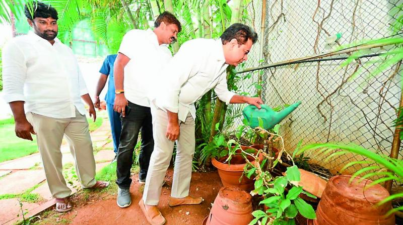 In a bid to create awareness about preventive measures, K.T. Rama Rao starts by cleaning his own home.