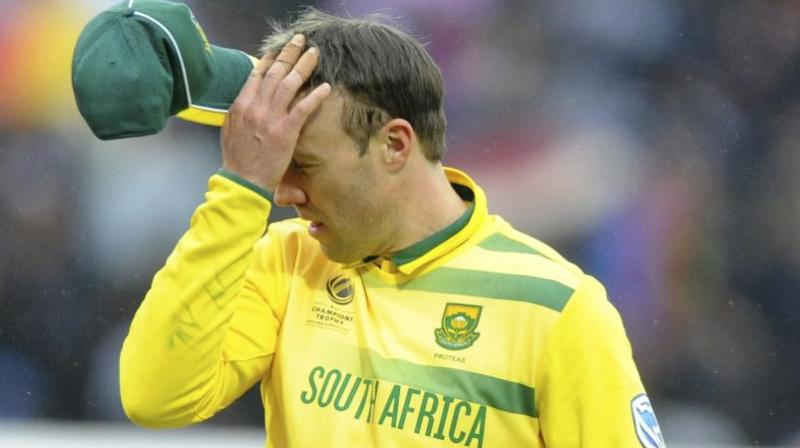 AB De Villiers will now require at least two-week time to recover fully, with the Cricket South Africa (CSA) medical team hopeful that the batsman would be fit in time to play fourth 'Pink' ODI on February 10.(Photo: AP)