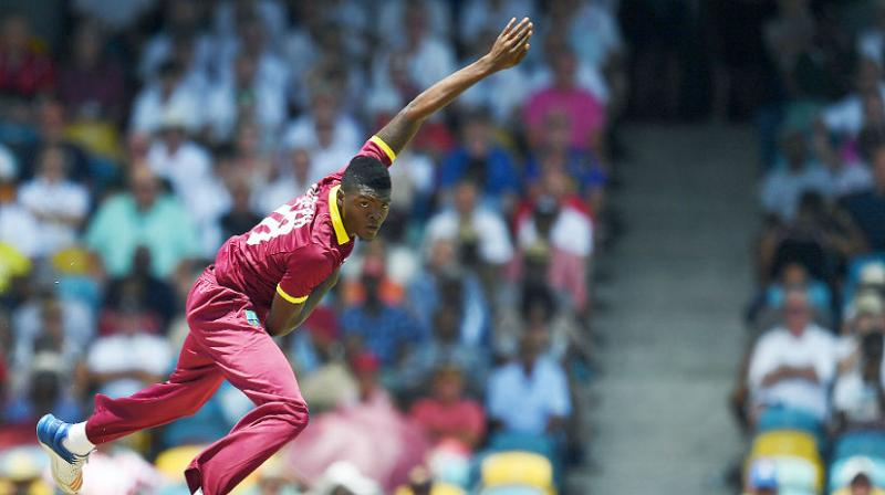 Seam bowler Joseph, 22, made his Test debut in 2016 and took 10 wickets in West Indies recent home 2-1 series triumph against England. (Photo: AFP)