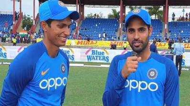 Navdeep talked to Bhuvneshwar Kumar about the meaning of the tattoo and the reasons behind getting it. (Photo: Twitter)