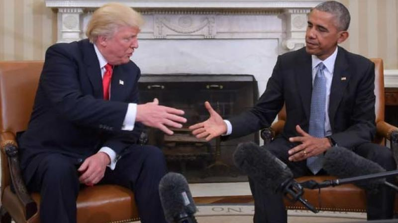 US President Barack Obama and Republican President-elect Donald Trump. (Photo: AFP)