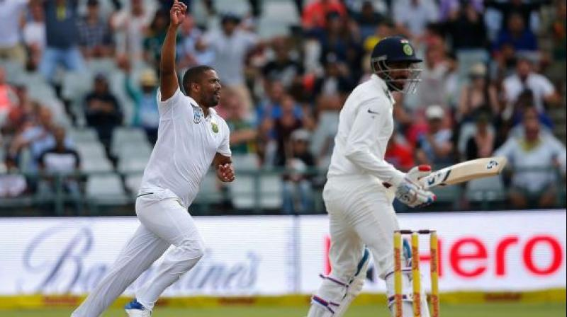 South Africa's most experienced pacer Vernon Philander is enjoying being a 'mentor' in the twilight of his career and wants more of his contemporaries to give back to the game instead of looking for 'greener pastures'. (Photo:AFP)