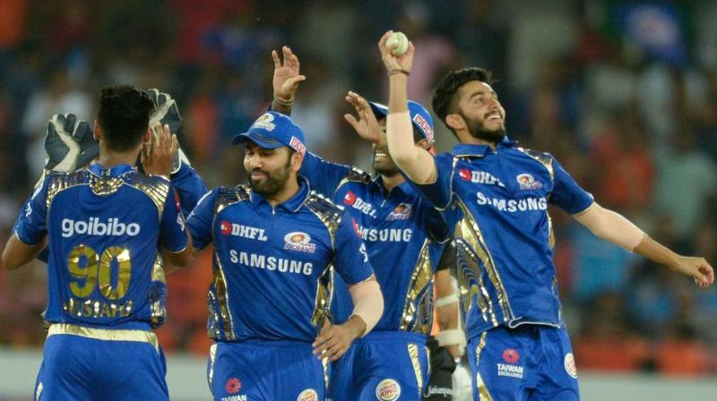 MI struck with wickets at regular intervals to keep themselves in control of the contest and emerge as winners. (Photo: AFP)