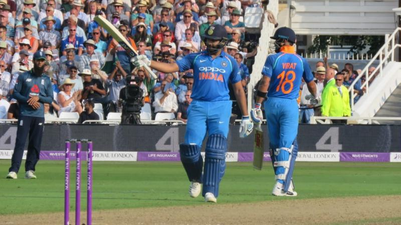 Rohit Sharma remained unbeaten on 137 as India completed an easy win. (Photo: Twitter / BCCI)