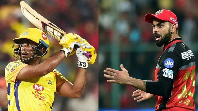 Speaking to CSK teammate Harbhajan Singh in his YouTube talk show Quick Heal Bhajji Blast, the Hyderabad batsman revealed about borrowing a bat from Virat Kohli every year. (Photo: PTI)
