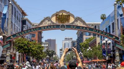 The Gaslamp welcomes Comic-Con attendees on Day One at Comic-Con International on July 18. (Photo: AP/ Christy Radecic)