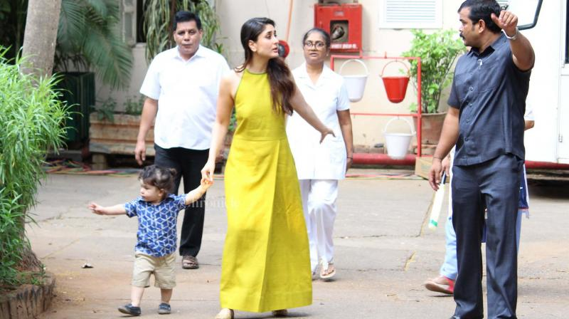 It was a usual busy day for Kareena Kapoor Khan, who was promoting her film 'Veere Di Wedding', but for Taimur, it was a memorable day for sure!