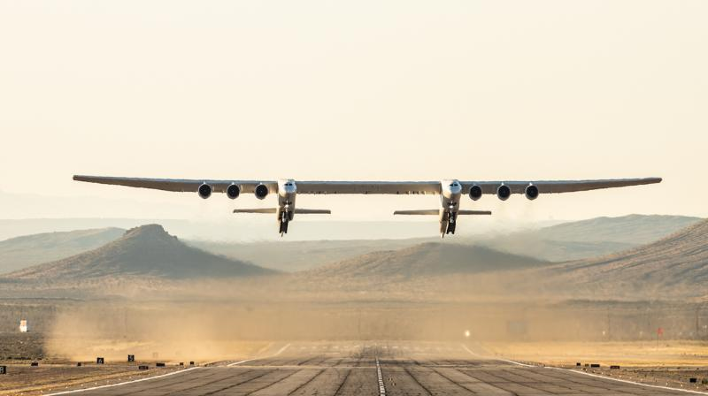 Saturday's flight, which saw the plane reach a maximum speed of 189 miles per hour and altitudes of 17,000 feet, was meant to test its performance and handling qualities, according to Stratolaunch.