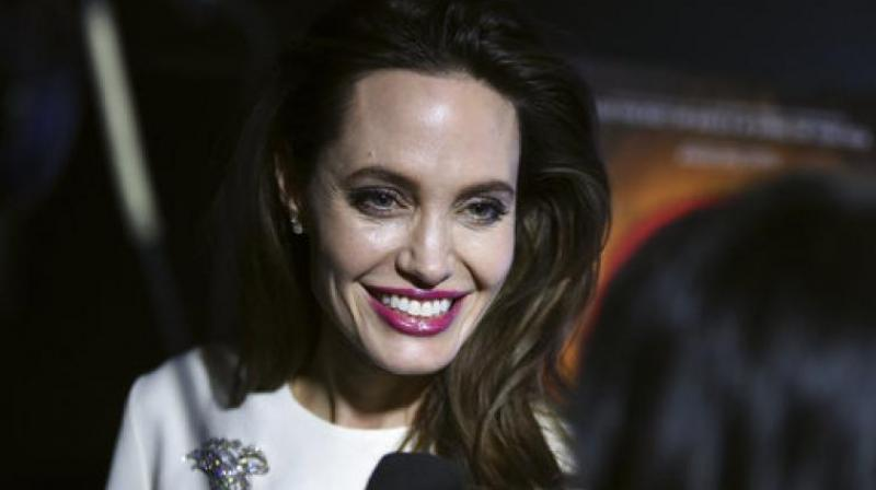 "Executive producer Angelina Jolie arrives at the Los Angeles premiere of ""The Breadwinner"" on Friday, Oct. 20, 2017, in Los Angeles.( Photo: AP)"