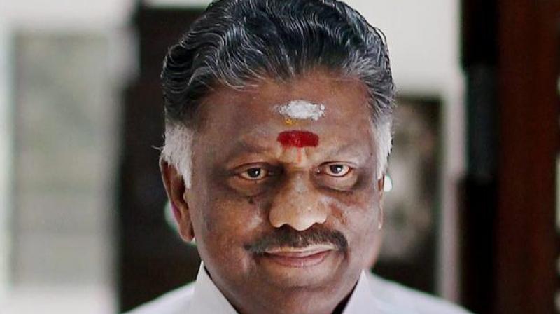 Tamil Nadu Finance Minister O Panneerselvam.