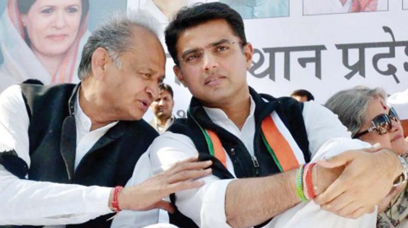 Chief Minister Ashok Gehlot and Deputy Chief Minister Sachin Pilot were sworn in on December 17, and the other ministers got inducted in the cabinet on Monday. (Photo: File)