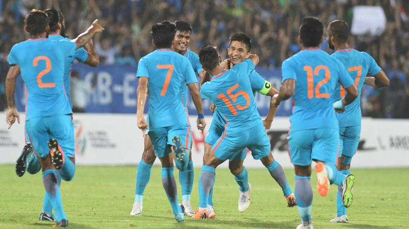 This will be the third match for India as part of its preparations against a team that is taking part in the January 5-February 1 Asian Cup, to be held in three cities of the UAE. (Photo: PTI)