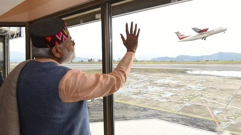 Image result for modi inaugurates first airport in sikkim
