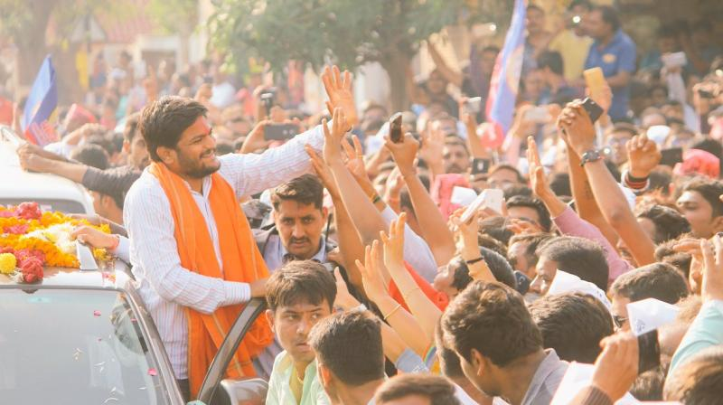 Three days before the second phase of Gujarat Assembly polls, the rally-cum-roadshow on motorcycles and cars was organised, which started from Bopal and culminated at Nikol area on the other end of the city, covering a distance of around 15 km. (Photo: Twitter   @HardikPatel_)