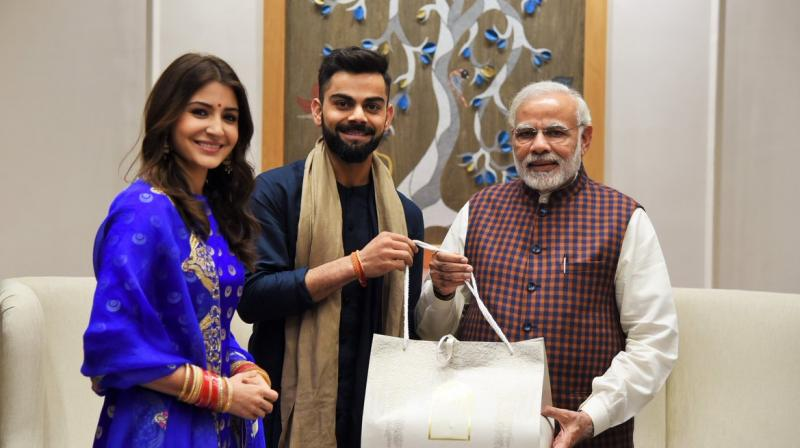 Prime Minister Narendra Modi congratulated team India skipper Virat Kohli and actress Anushka Sharma on their wedding. (Photo: Twitter | @PMOIndia)