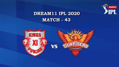 KXIP VS SRH  Match 43, DREAM11 IPL 2020, T-20 Match