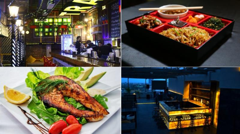 Here are places you can enjoy IPL, while you dine. (Clockwise from top: Traffic Gastropub, Royal China, Level Seven, Unlimited Food Factory)