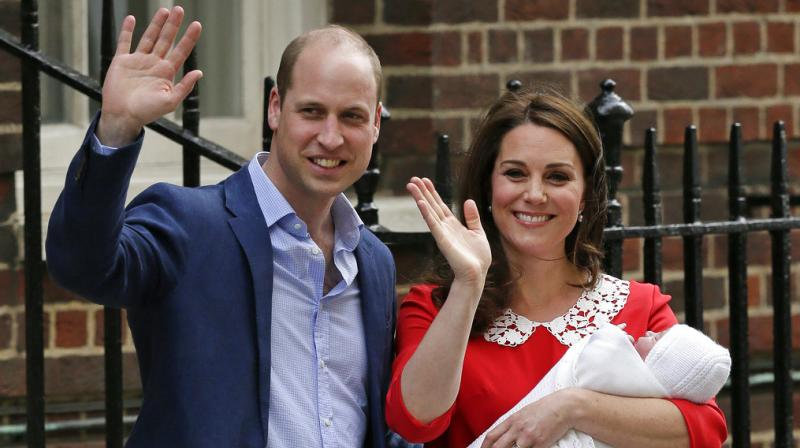 Duchess of Cambridge gave birth to healthy baby boy — a third child for Kate and Prince William and fifth in line to the British throne. (Photos: AP)