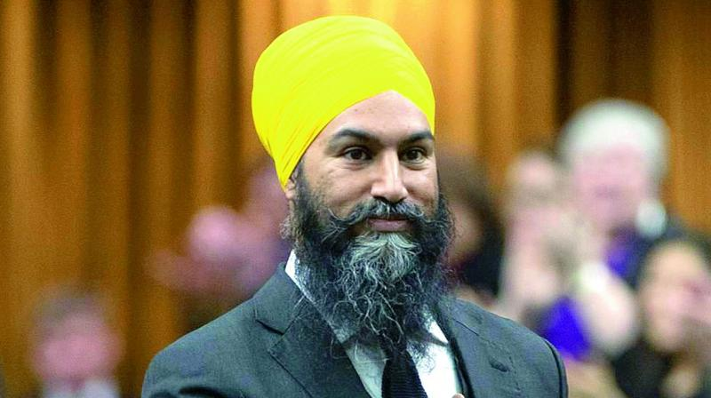 """Despite the drop in seats, Jagmeet Singh in a celebratory speech on Tuesday said his party will now be """"working hard"""" to deliver on the """"priorities that Canadians have"""". (Photo: File)"""