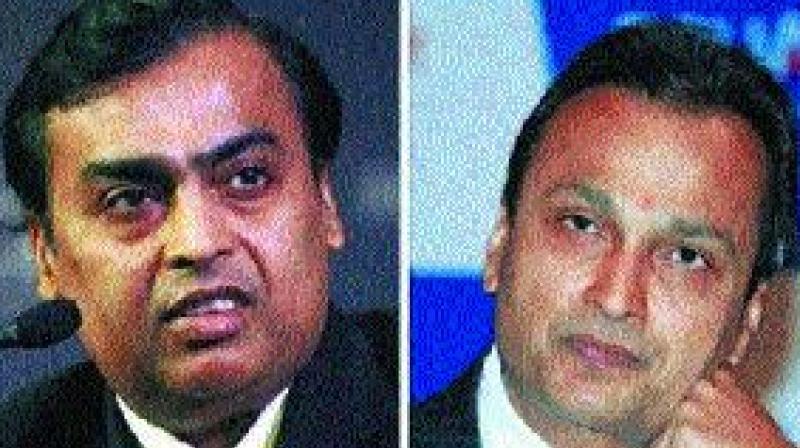 Mukesh Ambani and Anil Ambani