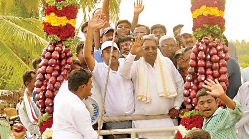 Karnataka CM Siddaramaiah files nomination for May 12 election