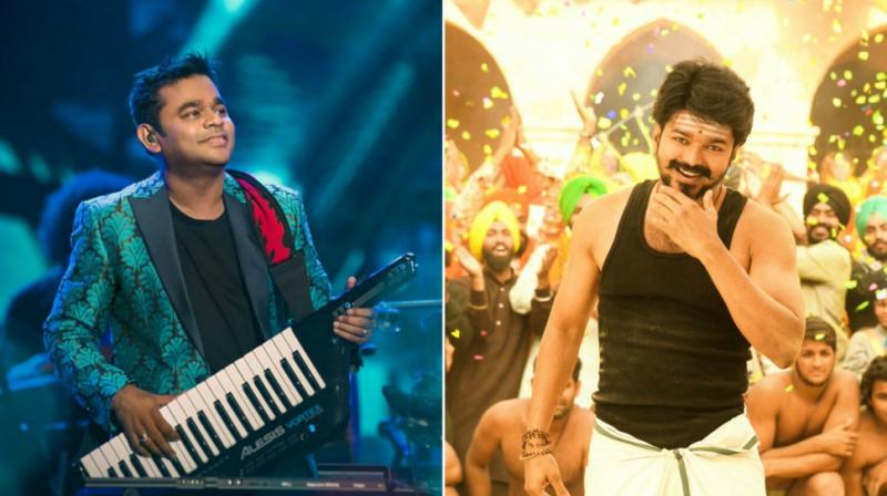 AR Rahman and Vijay.