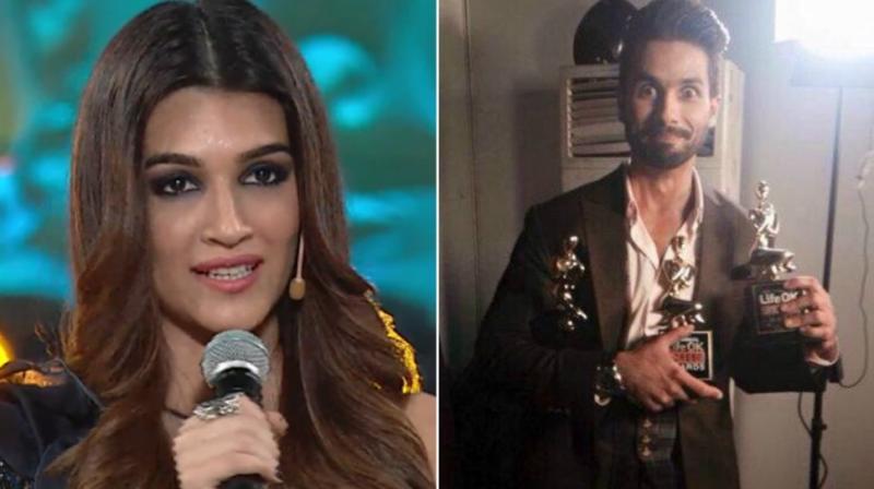 Kriti Sanon, Shahid Kapoor at Star Screen Awards.