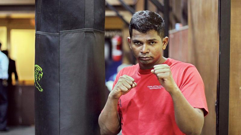 Kickboxer Girish