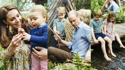 The Cambridges were pictured on a relaxed trip as a family to Kate's Back to Nature garden at the Chelsea Flower Show. (Photo: AP)