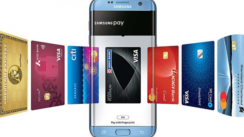 Samsung Pay, integrates all one's debit, credit card and e-wallets into the phone.