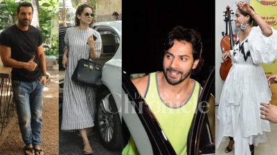 Bollywood celebrities John Abrahm, Sonam Kapoor, Varun Dhawan, Kangana Ranaut Kareena Kapoor, Sunny Leone and others were spotted in the city. Checkout the exclusive pictures of your favourite stars here. (Pictures; Viral Bhayani)