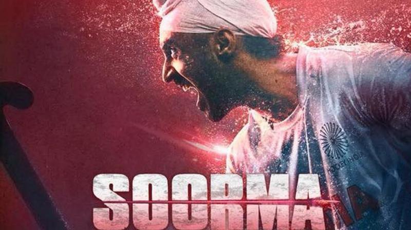 Diljit Dosanjh in 'Soorma' poster.