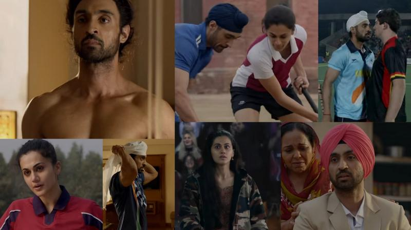 Screengrabs from 'Soorma' trailer. (Courtesy: YouTube/Sony Pictures Networks Productions)