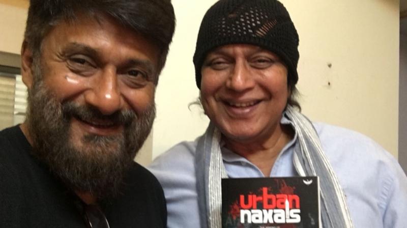 Vivek Agnihotri with Mithun Chakraborty.