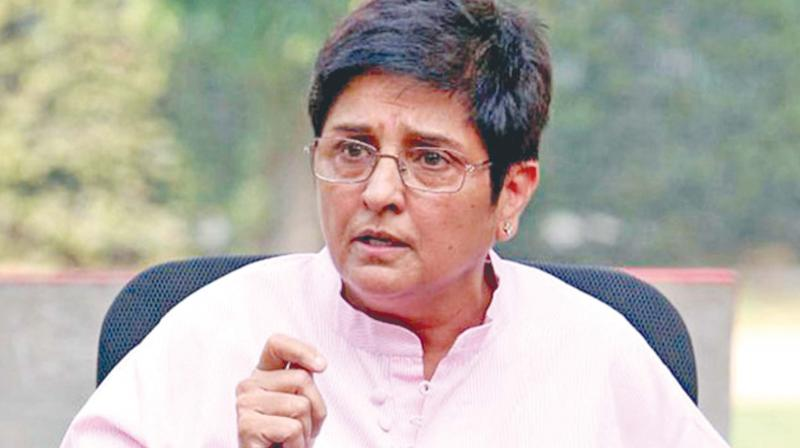 Puducherry Lt Governor Kiran Bedi.